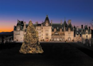 Biltmore at Christmas at night
