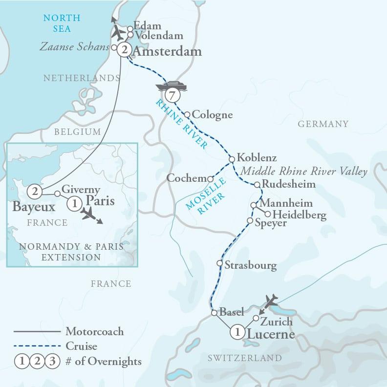 Normandy & Paris Extension 5